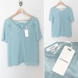 2/$30  Pleione NWT Blue V-Neck Blouse - Small